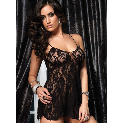 Leg Avenue Rose Lace Flair Chemise