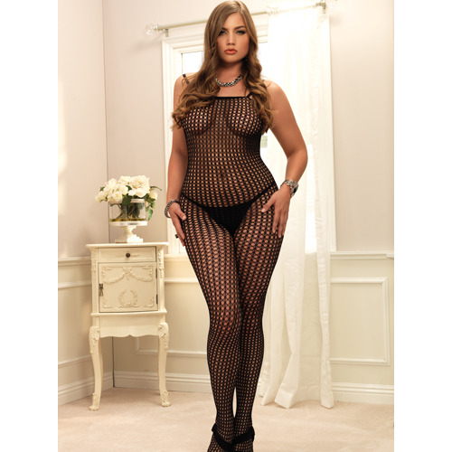 Plus Size Leg Avenue Seamless Crochet Bodystocking