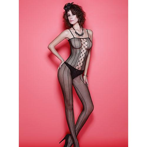 Corset Cut Out Bodystocking