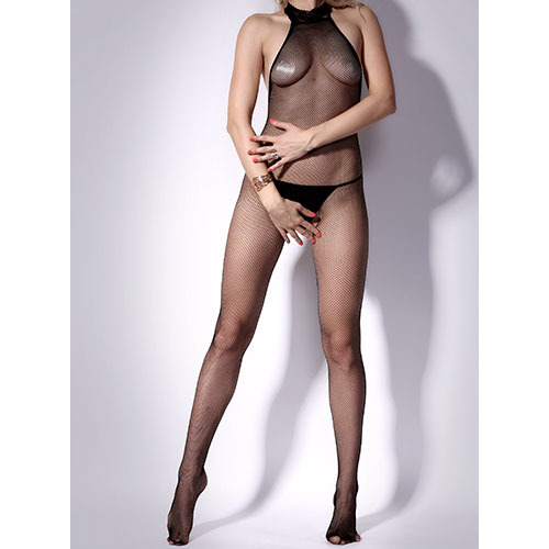 Halter Neck Crotchless Bodystocking