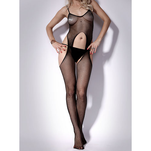 Exposed Sheer Suspender Bodystocking