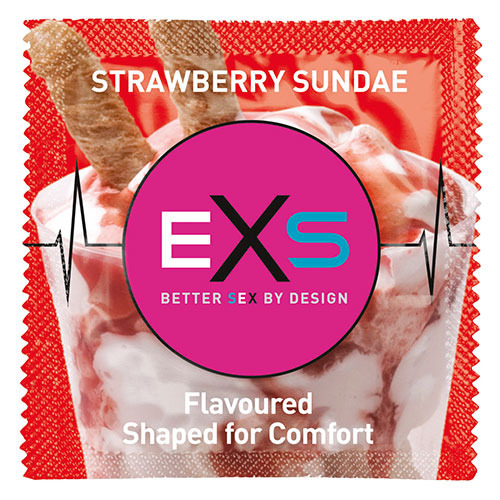 EXS Strawberry Sundae Condom - Loose