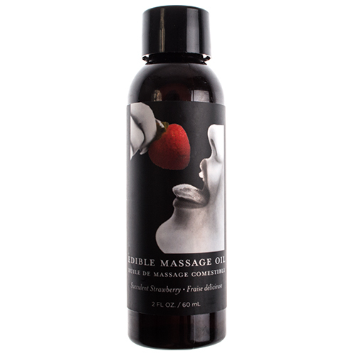 Earthly Body Edible Massage Oil 2oz - Strawberry