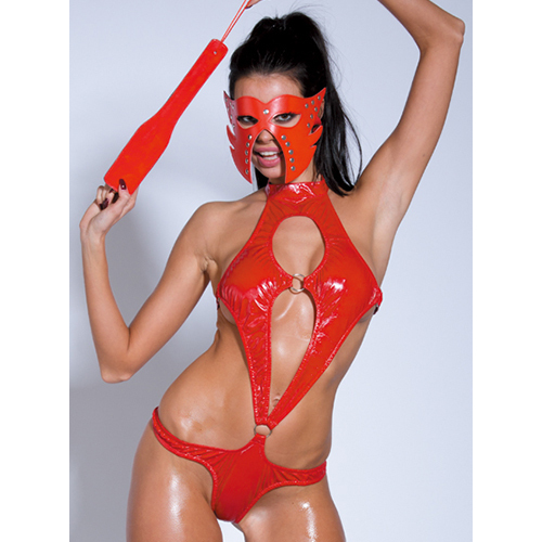 Bondara Red Cut Out Teddy With Mask and Paddle