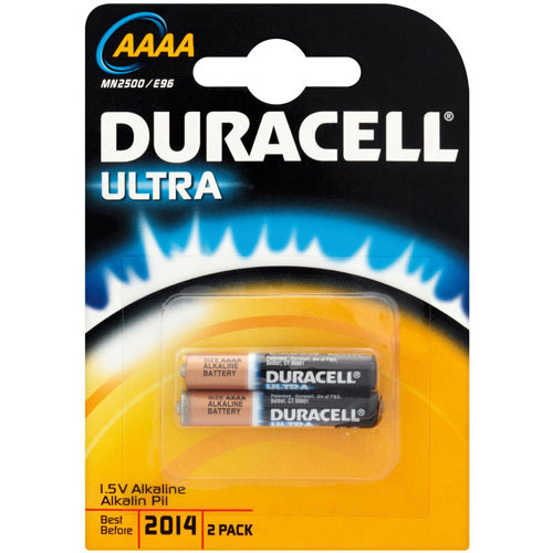 Duracell AAAA MN2500 Batteries- 2 pack