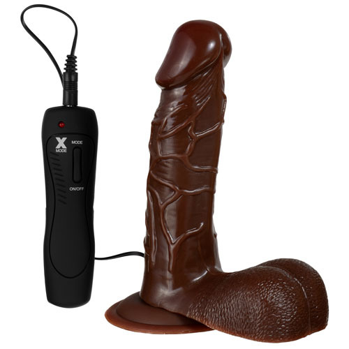 Big Black Thunder Vibrating Suction Dildo