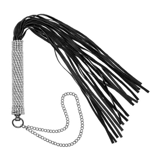 "Diamante Encrusted 24"" Flogger Whip"