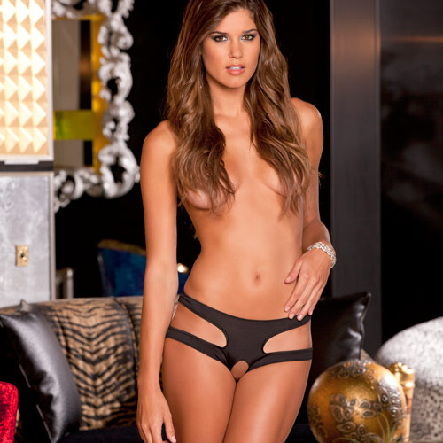 Rene Rofe Cut It Out Crotchless Panty