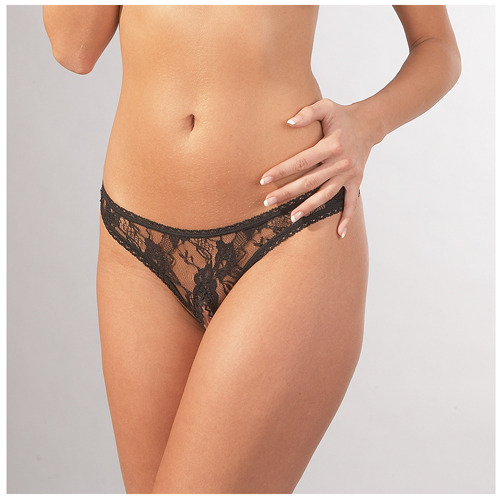 Cottelli Collection Open Crotch Lace Thong
