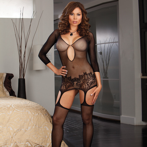 Plus Size Dreamgirl Istanbul Crotchless Bodystocking