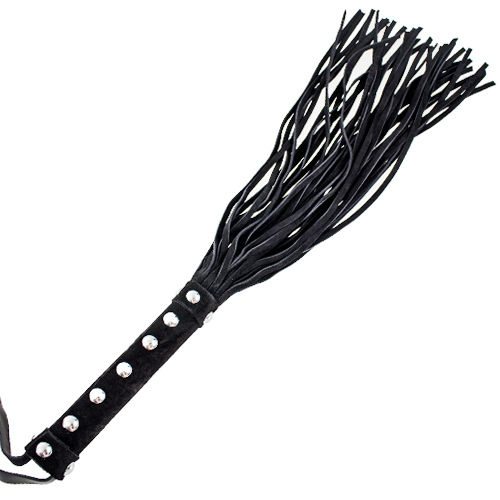 "Deluxe Black Suede 16"" Flogger Whip"