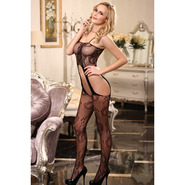 Exposed Crotchless Bodystocking