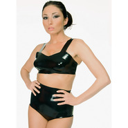 Latex Rubber High Waisted Briefs