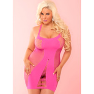 Plus Size Pink Lipstick Pink Amnesia Seamless Dress