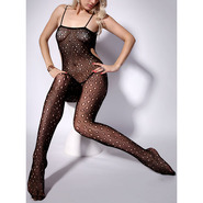 Polka Dot Crotchless Bodystocking