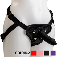Adjustable Strap On Harness and Silicone Dildo