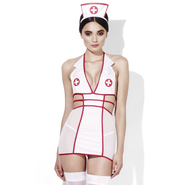 Fever Feel Better Cut Out Nurse Dress and Headpiece