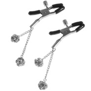 Diamante Pendant Twist Nipple Clamps
