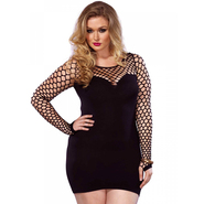 Plus Size Leg Avenue Black Seamless Minidress