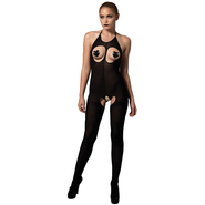 Leg Avenue Kink Opaque Cupless Bodystocking