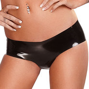 Bondara Latex Crotchless Black Hot Pants