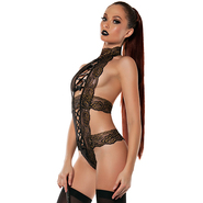 Golden Desire Satin Lace Up Teddy