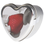 Earthly Body 3 in 1 Massage Heart Candle - Strawberry