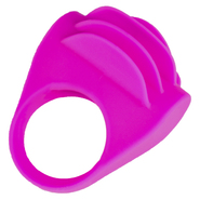 Velvet Touch Tickling Tongues Silicone Vibrating Cock Ring