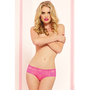 Seven Til Midnight Pink Lace Crotchless Boyshort