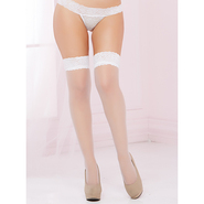 Seven Til Midnight White Lace Top Sheer Stockings