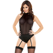 Fantasy Pretty Little Sheer Halter Playsuit