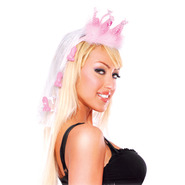 Bachelorette Party Fancy Pecker Crown With Veil