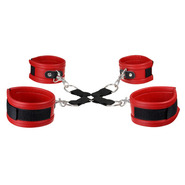 Super Soft Faux Leather Red Hog Tie Restraints