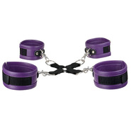 Super Soft Faux Leather Purple Hog Tie Restraints