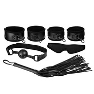 Beautifully Black PVC 5 Piece Bondage Kit