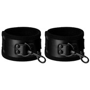 Beautifully Black PVC Handcuffs
