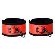 Ravishing Red PVC Ankle Cuffs