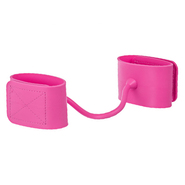 Pink Adjustable Silicone Ankle Cuffs