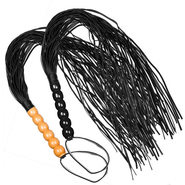 Wooden Beaded Flogger Whip