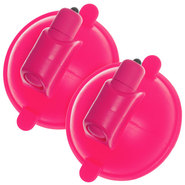 Fizzing Pink Vibrating Silicone Nipple Cups