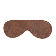 Luxury Brown Leather Blindfold