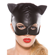 Bad Kitty Leather Look Cat Mask