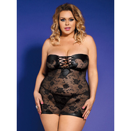 Bondara Plus Size Lace Dress and Thong