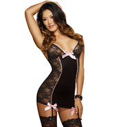 Dreamgirl Sexy Pin-Up Lace Garter Slip