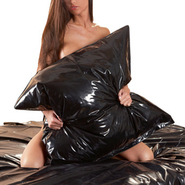 Black PVC Pillowcase