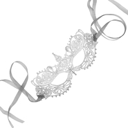 Samantha Peach All Lace Silver Goddess Mask