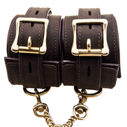 Bound Nubuck Leather Wrist Cuffs
