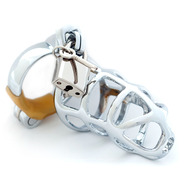 Chrome Chastity Device