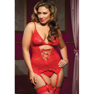 Plus Size Seven Til Midnight Midnight Affair Scarlet Lace Cami
