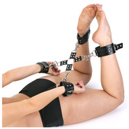 Leather Bondage Hog Tie Restraint